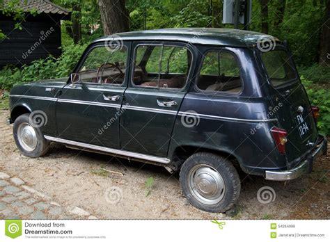 vintage renault vintage renault 4 r4 hatchback back view editorial
