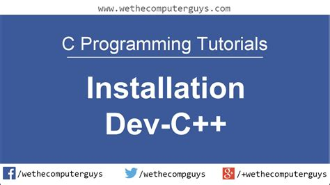 tutorial c programming c programming language tutorial lect 1 installation devc