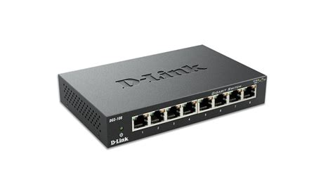 Switch Network 8 port gigabit unmanaged metal desktop switch dgs 108 d link