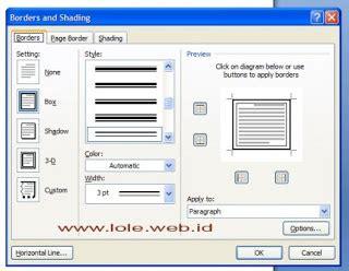 langkah membuat halaman pada word cara membuat bingkai halaman pada microsoft word 2007