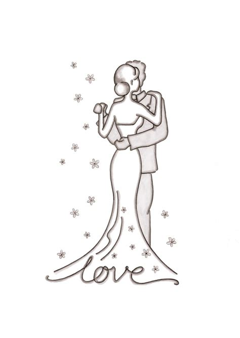 Hochzeit Zeichnung by Wedding Illustations And Drawing Inspiration