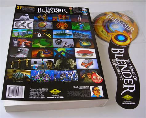 Buku The Magic Of Blender 3d Modelling 37 Total Tutorials Dvd buku blender 3d terlengkap tutorial bahasa indonesia buku
