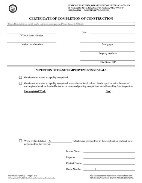 doc 12751650 work completion certificate template of