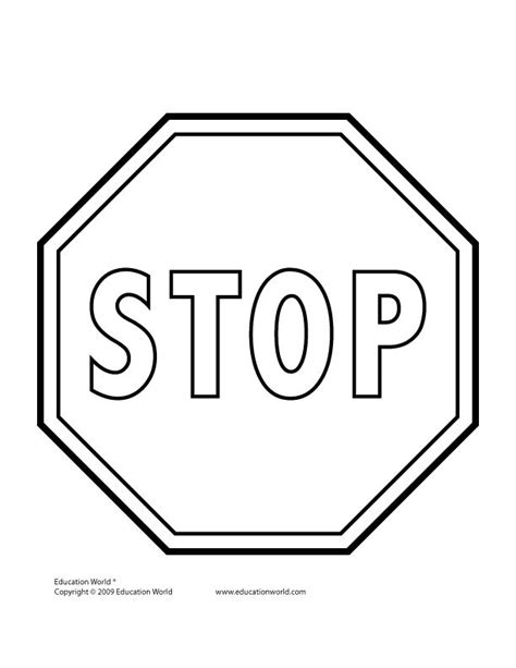 stop sign coloring pages pinterest