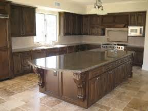 Brown Kitchen Countertops by Tropical Brown Granite Kitchen Countertops Design Ideas