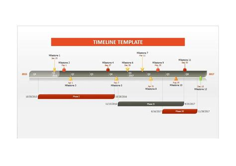 30 Timeline Templates Excel Power Point Word Template Lab Microsoft Excel Timeline Template