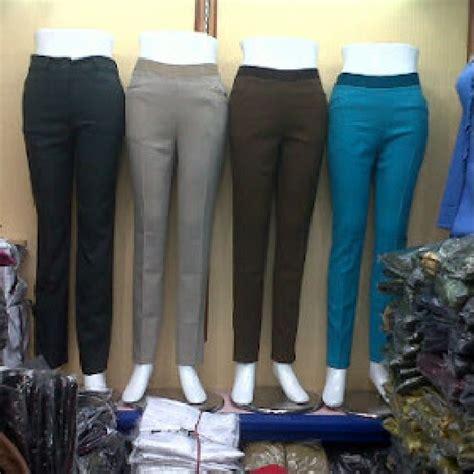 Celana Bahan Kerja Wanita jual celana kerja wanita jumbo big size celana bahan kantor salbishop