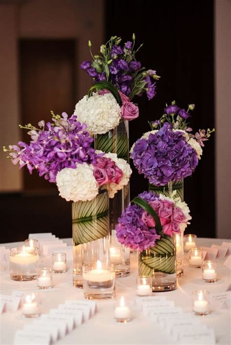 wedding table decorations purple and green purple wedding ideas with sophistication modwedding