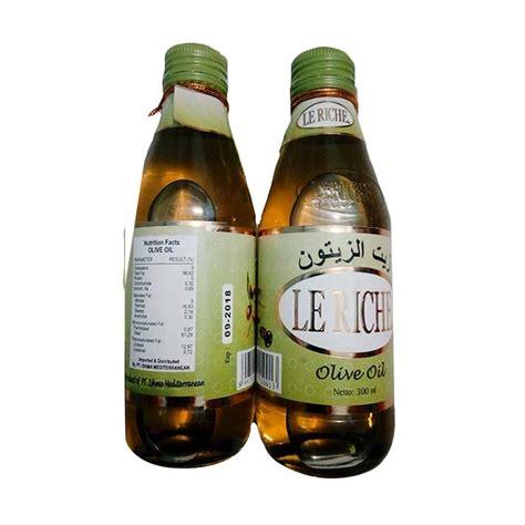Minyak Zaitun Olive Le Riche Herbal Berkhasiat jual olive le riche minyak zaitun 300 ml harga kualitas terjamin blibli
