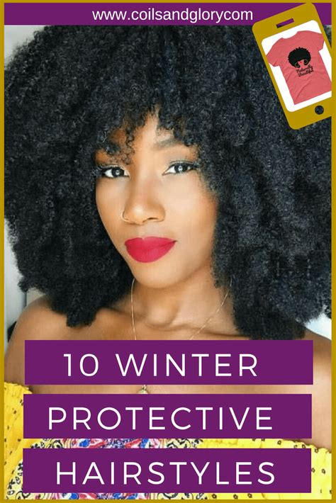 winter protective styles   natural hair coils