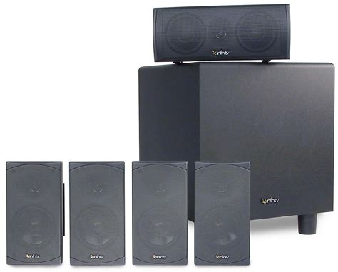 infinity hts 20 home theater speaker system on