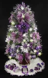 white tree purple decorations tree decorations purple decorating