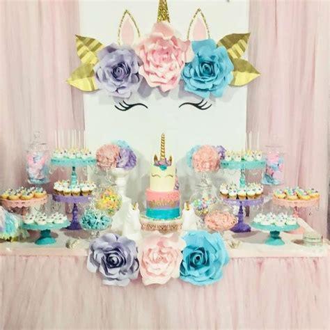 como decorar fiesta de unicornio decoracion de mesa principal fiesta de unicornio 11