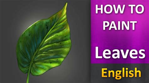 how to paint how to paint in photoshop leaves english youtube