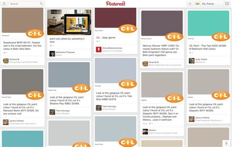 our new website makes it easy to pin your favourite cil paint colours to your boards