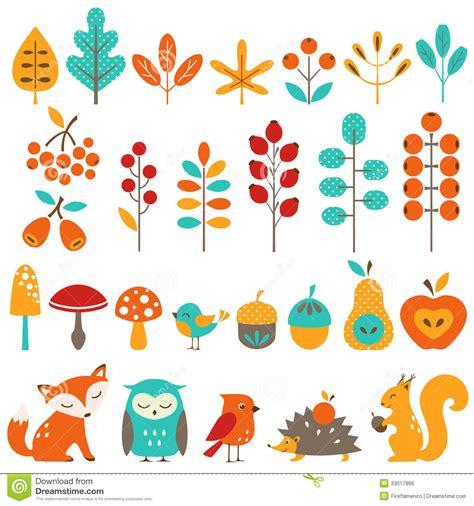 design elements by ultimate symbol сute autumn design elements stock vector image 33017866