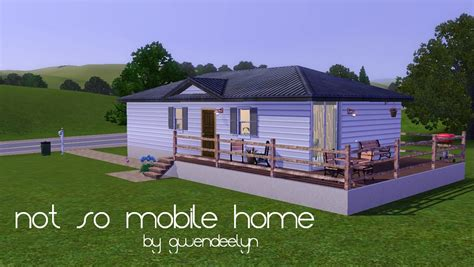mod the sims affordable 2 bedroom mobile home for sale mod the sims not so mobile home a base starter
