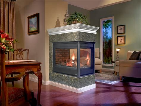 electric peninsula fireplace brick with peninsula fireplaces hearth and home