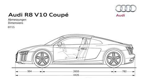 Audi R8 Dimensions by Dimensions Gt Audi