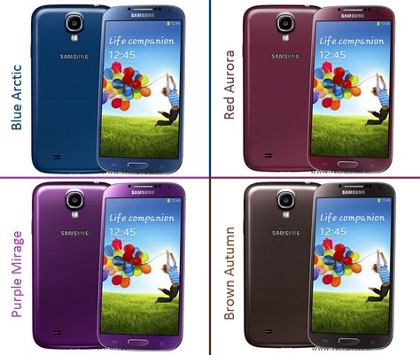 five new colour options for samsung galaxy s4 announced