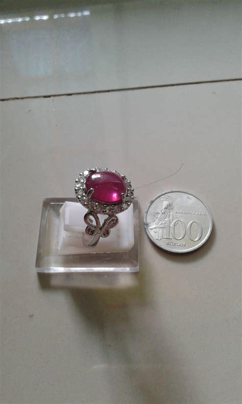 Cincin Wanita Batu Merah jual beli cincin batu merah delima ruby baru