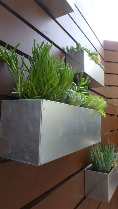 metal wall planter best 25 fence planters ideas on building