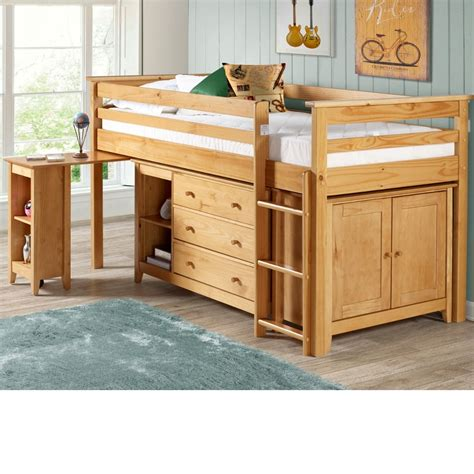 Mid Sleeper Beds by Cotswold Solid Pine Wooden Mid Sleeper Sleep Station