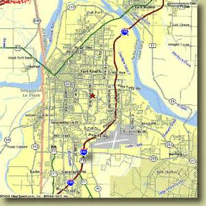 map of fort area fort smith arkansas maps