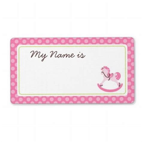 printable girly name tags 21 best images about baby shower name tags on pinterest
