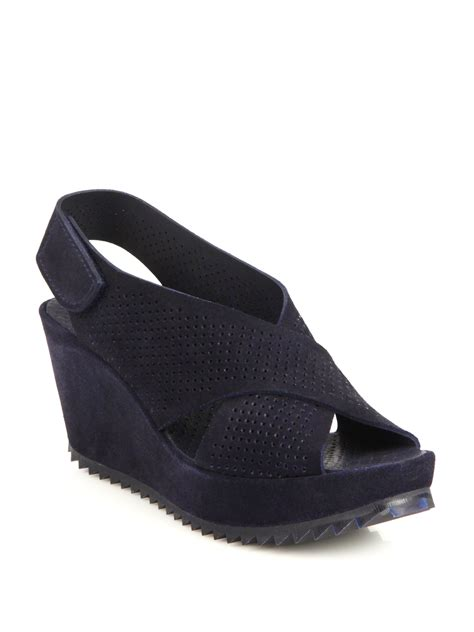 Pedro Shoes Ori 4 lyst pedro garcia frigg perforated suede crisscross
