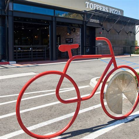 Bike Rack Locator by Toppers Pizza Place Locations