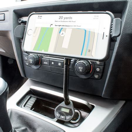 support voiture iphone 6s 6s plus roadwarrior chargeur fm
