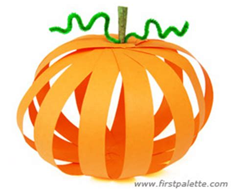 How To Make A Pumpkin With Construction Paper - paper pumpkin craft crafts firstpalette