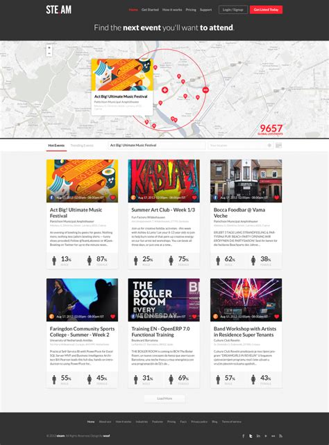 Events Listing Website Template Freebies Fribly Event Website Template