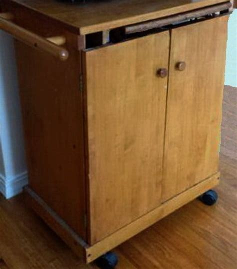 diy turn a common microwave cart into a vintage kitchen