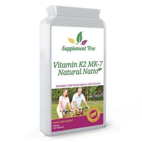 k supplement vitamin k2 mk 7 natto 100mcg 120 capsules