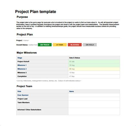project template word project plan template 23 free word excel pdf format