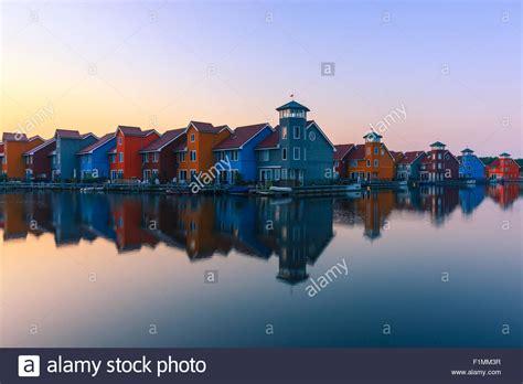 free photo fireworks groningen netherlands free image colourful houses at reitdiephaven groningen netherlands