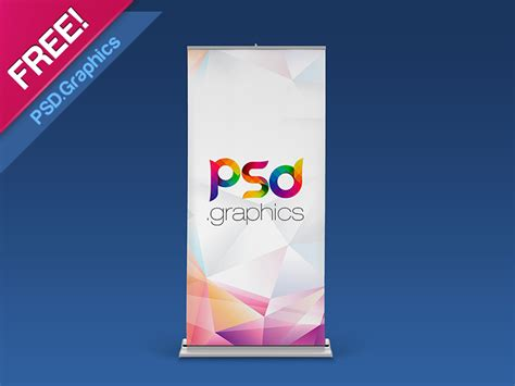 design banner mockup roll up banner mockup free psd by psd graphics dribbble