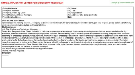 Endoscopy Cover Letter by Sle Of Recommendation Letter For Endoscopy Cover Letter Templates