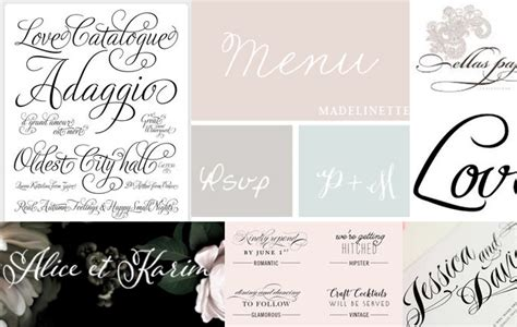 Wedding Font Best by The Best Wedding Invitation Fonts For Wedding
