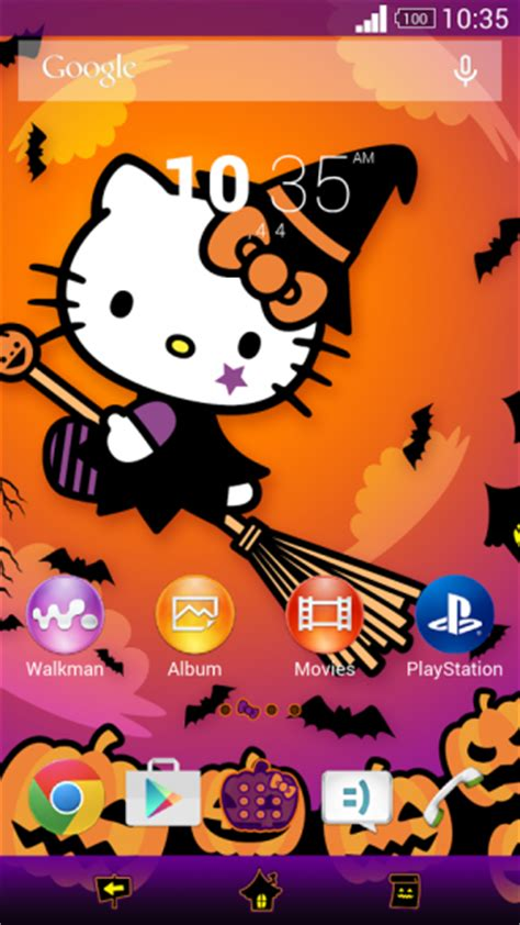 hello kitty themes for sony xperia new premium halloween xperia themes released scary