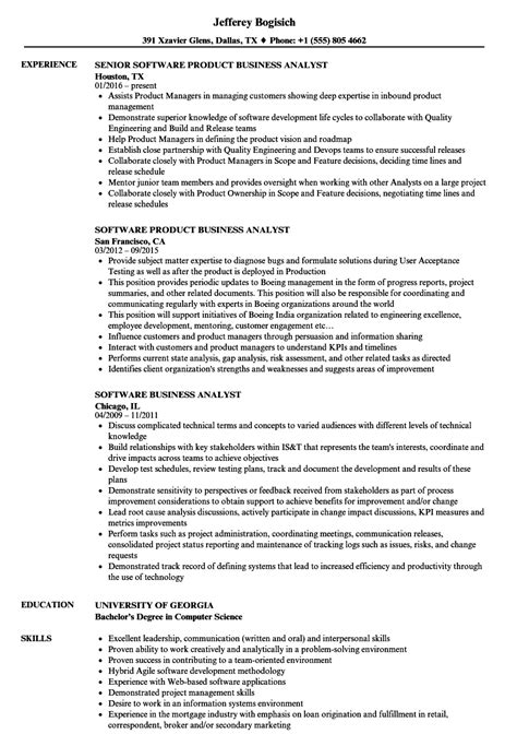 Sdlc Business Analyst Resume