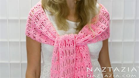 shawl pattern youtube diy tutorial how to crochet broomstick lace shawl scarf