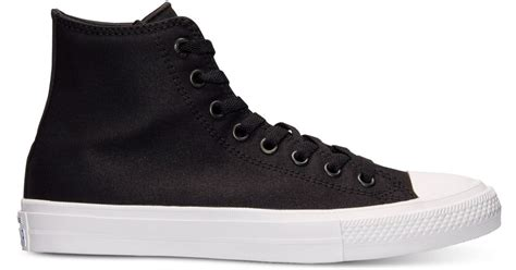 Converse Chuck Tailor Ii High Fullblack converse s chuck all ii high casual sneakers from finish line in black for