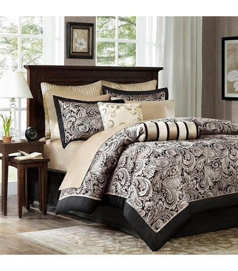 cream queen comforter sets black cream paisley comforter sheet set king or queen
