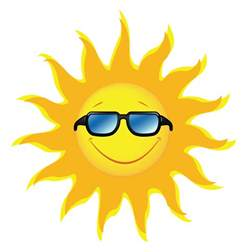 Home Decor Yellow Sun With Sunglasses Transparent Picture Png Gallery