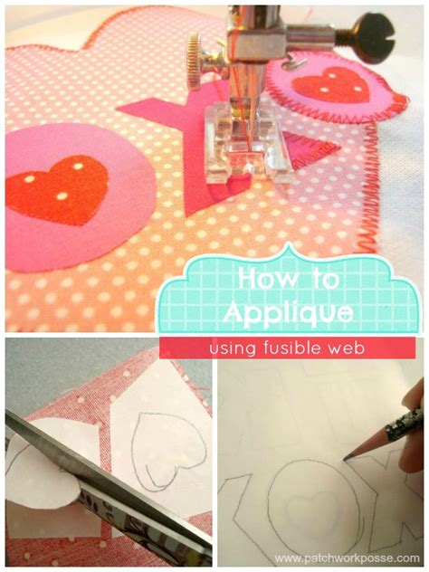 Patchwork Web - how to applique using fusible web