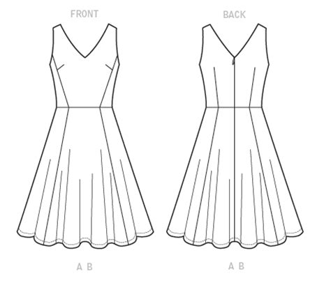 pattern making templates for skirts and dresses mccall s 7503 misses sleeveless v neck dresses