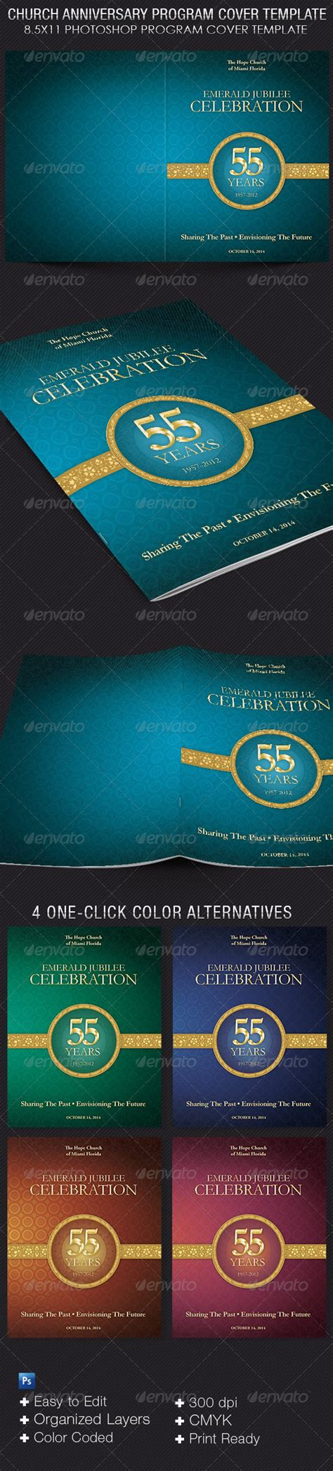 Church Anniversary Program Cover Template On Behance Church Program Covers Templates